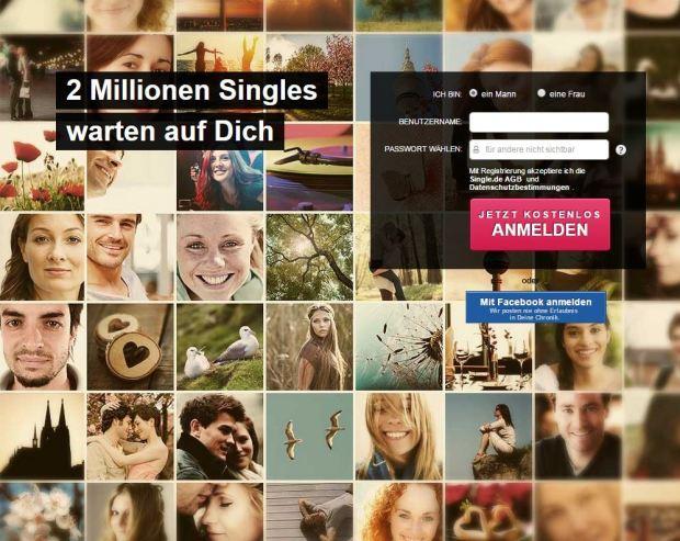 Auf single.de anmelden oder registrieren