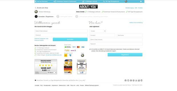 Einloggen oder registrieren
