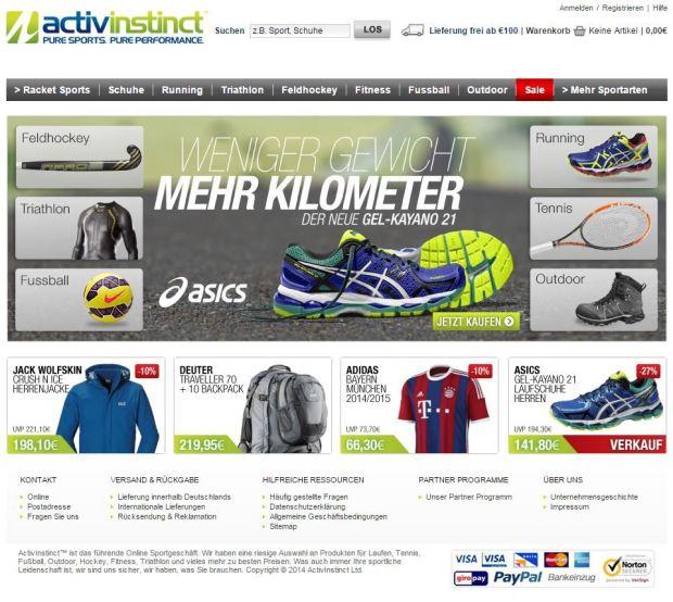 Activinstinct Startseite