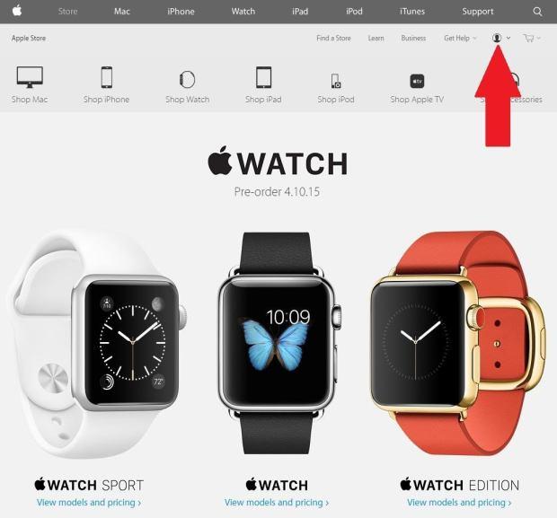 Im Apple Store anmelden