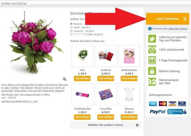 Blumenstrauß jetzt bestellen