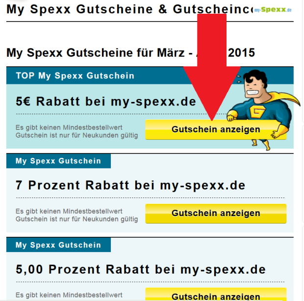 My Spexx Gutschein finden