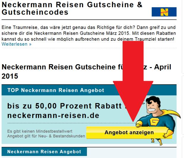 Neckermann Angebot anzeigen