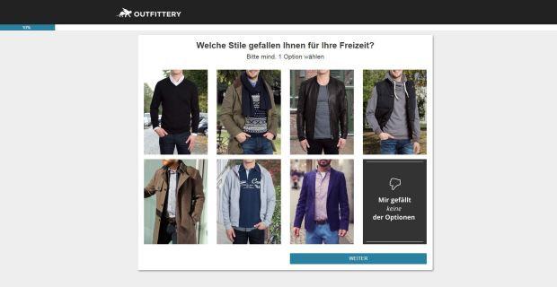 Fragebogen von Outfittery