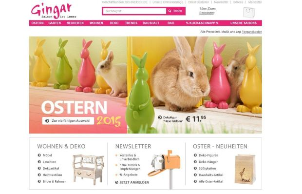 Website gingar.de
