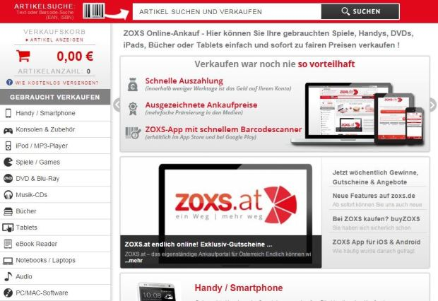 ZOXS Startseite